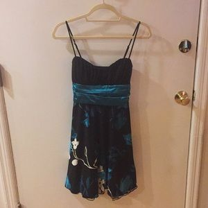 Speechless blue black spaghetti strap dress Small